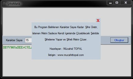 Şifre Matik - Password Generator